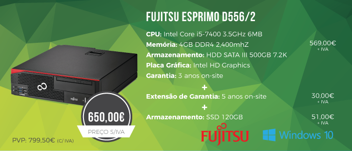 Promoção Desktop Fujitsu ESPRIMO D556/2