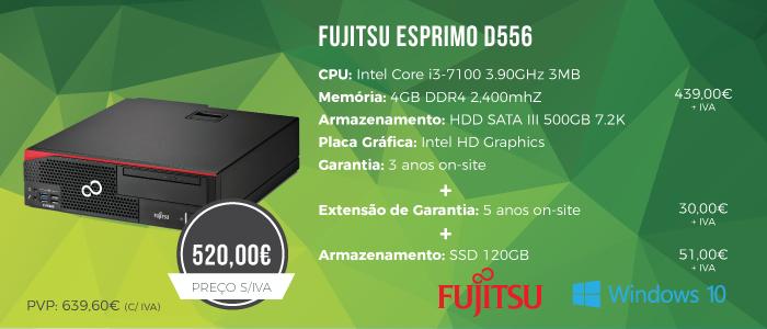 Promoção Desktop Fujitsu ESPRIMO D556
