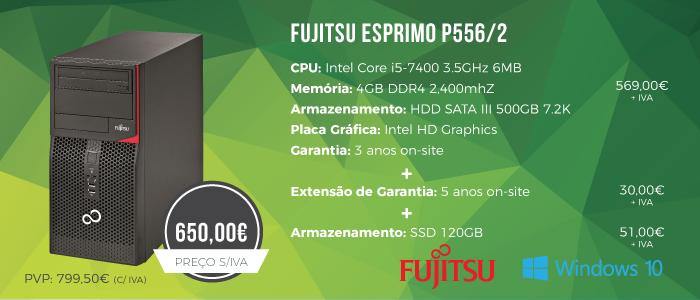 Promoção Desktop Fujitsu ESPRIMO P556/2