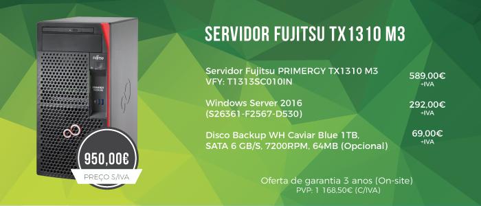 Promoção Servidor Fujitsu TX1310 M3